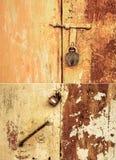 Puerta y cerradura oxidadas Imagenes de archivo