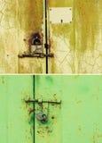 Puerta y cerradura oxidadas Fotos de archivo libres de regalías