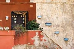 Puerta y decoraciones Imagen de archivo libre de regalías