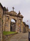 Puerta y escaleras de Mallona en Bilbao Imagenes de archivo