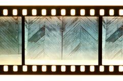 Puerta y pared del vintage en tira de la película Imagen de archivo libre de regalías