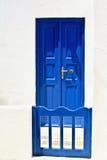 Puerta y puerta azul Fotografía de archivo