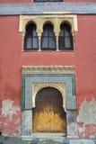 Puerta y ventana árabes Fotografía de archivo