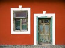 Puerta y ventana de la vendimia Imagenes de archivo