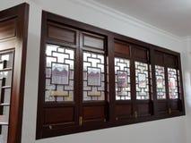 Puerta y ventana de madera Fotografía de archivo libre de regalías