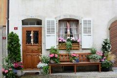 Puerta y ventana Gruyeres Fotos de archivo
