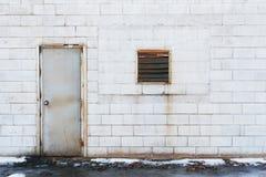 Puerta y ventana viejas Fotografía de archivo