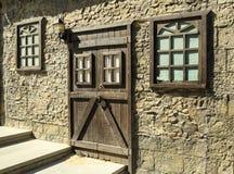 Puerta y ventanas Foto de archivo