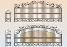 Puerta y wicket forjados libre illustration