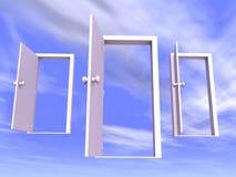 Puertas abiertas Foto de archivo