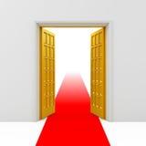 Puertas abiertas de oro Foto de archivo libre de regalías