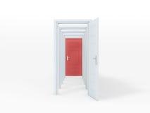 Puertas abiertas múltiples Fotos de archivo libres de regalías
