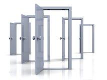 Puertas abiertas - posibilidades ilustración del vector