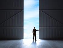 Puertas al hangar ilustración del vector