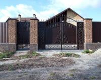 Puertas artísticas del hierro Imagen de archivo libre de regalías