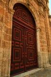 Puertas artísticas de Cartagena, Colombia Imágenes de archivo libres de regalías