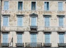 Puertas azules Foto de archivo libre de regalías
