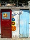 Puertas coloreadas fotografía de archivo