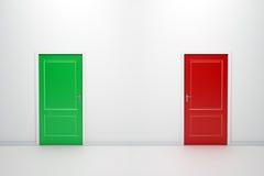 Puertas coloridas ilustración del vector