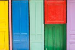 Puertas coloridas Imagen de archivo