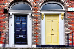 Puertas coloridas de Dublín Fotografía de archivo libre de regalías