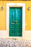 Puertas coloridas en Portugal Imagen de archivo libre de regalías