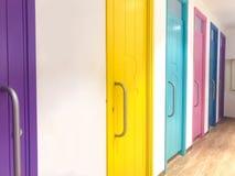 Puertas coloridas interiores Fotos de archivo libres de regalías