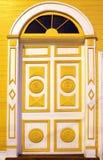 Puertas coloridas talladas Imagenes de archivo