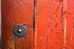 Puertas coloridas viejas en Lisboa Imagen de archivo