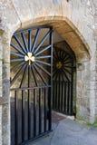 Puertas con adorno irlandés del trébol Imágenes de archivo libres de regalías