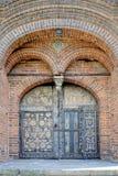 Puertas con las pinturas del templo de la decapitación de San Juan Bautista en Yaroslavl, Rusia fotos de archivo libres de regalías