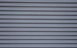Puertas de acero del gris del garaje Imagen de archivo