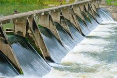 Puertas de agua para la irrigación Fotografía de archivo
