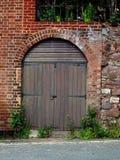 Puertas de Brown Fotos de archivo