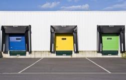Puertas de Colouristic de una plataforma del cargamento Imagen de archivo libre de regalías