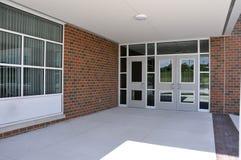 Puertas de entrada de la escuela Imágenes de archivo libres de regalías