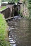 Puertas de esclusa del canal Fotos de archivo