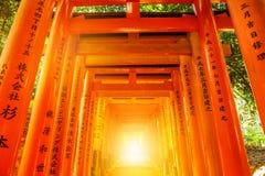 Puertas de Fushimi Inari Torii Imagenes de archivo