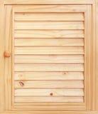 Puertas de gabinete de madera Imágenes de archivo libres de regalías
