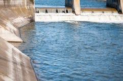 Puertas de inundación concretas Imagen de archivo libre de regalías