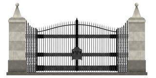 Puertas de jardín 1 ilustración del vector