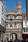 Puertas de la catedral de Cantorbery en Cantorbery Kent Imágenes de archivo libres de regalías