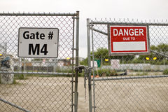 Puertas de la construcción Fotos de archivo