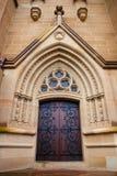 Puertas de la iglesia Fotos de archivo