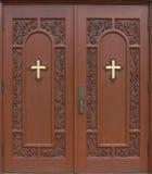Puertas de la iglesia Fotos de archivo libres de regalías