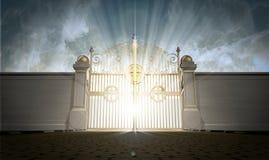 Puertas de los cielos cerradas foto de archivo libre de regalías