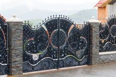 Puertas de lujo del hierro labrado fotografía de archivo libre de regalías
