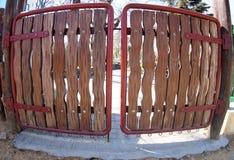 Puertas de madera Imágenes de archivo libres de regalías