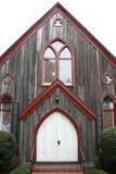 Puertas de madera de la iglesia del roble dramático Imagen de archivo libre de regalías