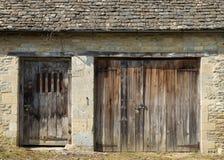 Puertas de madera viejas imagen de archivo libre de regalías